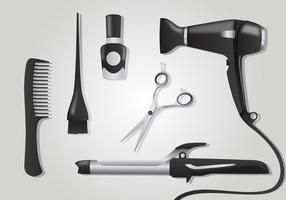 Realistiska Salong Verktyg Vector Pack