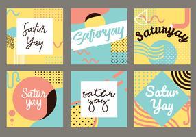 Saturyay Schriftzug Vektor Pack