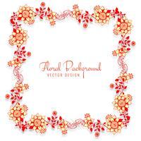 Vacker dekorativa bröllopsram blommig bakgrund vektor