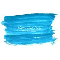 Handabgehobener betrag blaues Aquarell streicht Hintergrund vektor