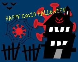 lycklig halloween hälsning bakgrunder vektor