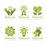 natürliche Logo-Kollektion in flachem Design vektor