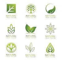 grünes Naturlogo vektor