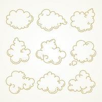 Wolkensatzskizzenhand gezeichnet vektor