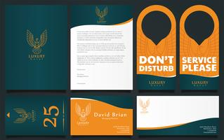Lyxhotell Corporate Identity Vector Pack