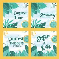 Instagram Contest Mall Vector Design