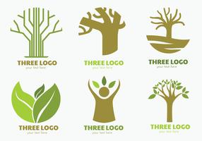 Baum-Logo-Vektor-Satz