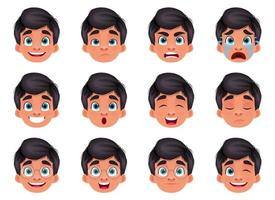 pojke ansikte uttryck vektor design illustration isolerad på vit bakgrund