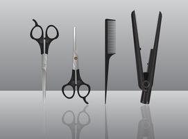 Realistische Salon-Werkzeuge vektor