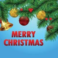 god jul semester bakgrund med vektorillustration på kreativ bakgrund vektor