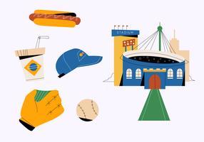 Infographic-Vektor-flache Illustration des Baseball-Materials