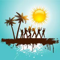 Grunge tropischen Party Hintergrund vektor