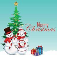 gratulationskort för god jul med vektorillustration vektor