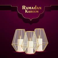 kristall rakhi för ramadan kareem inbjudningskort på kreativ bakgrund vektor
