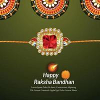 glad rakhi firande designmall med vektorillustration och bakgrund vektor