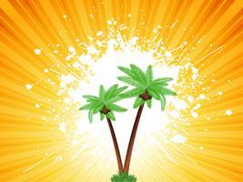 Grunge palmträd bakgrund