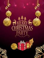 god jul och gott nytt år firande party flyer vektor