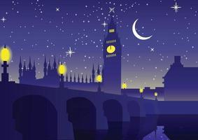 Big Ben Clock berühmtes Wahrzeichen von England vektor