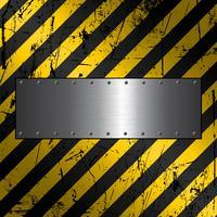 Metallplatte auf grunge Hintergrund vektor