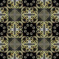 Dies ist eine goldene Vintage-Seidenstruktur mit einem Art-Deco-Muster vektor