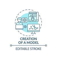 modell skapande koncept ikon vektor