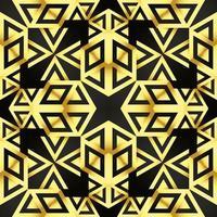 Dies ist eine goldene Vintage-Seidenstruktur mit einem afrikanischen Art-Deco-Muster vektor