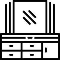linje ikon för spegel vektor