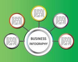 infographics för företagspresentation vektor