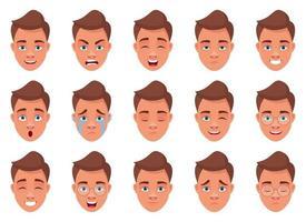 man ansikte uttryck vektor design illustration isolerad på vit bakgrund