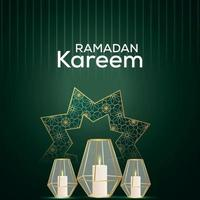 ramadan kareem inbjudan bakgrund med arabisk lykta vektor