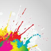 Grunge färg splat bakgrund vektor