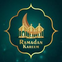 Ramadan Kareem Einladungsgrußkarte mit Musterhintergrund vektor