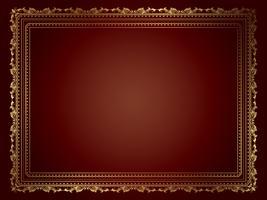 Dekorativ guldram vektor