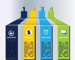 Infografiken für die Unternehmenspräsentation vektor