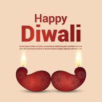 glad diwali festival av ljus med vektorillustration på kreativ bakgrund vektor