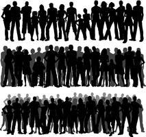 Menschenmengen vektor
