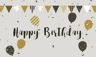 Grattis på födelsedagen banner firande bakgrund vektor