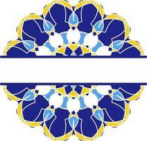 Mandala im Azulejo-Stil, portugiesische kreisförmige Verzierung. vektor