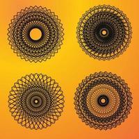 ett komplext mönster av cirklar geometriskt cirkelmönster svart vektor