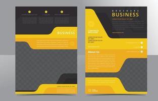 modern gul broschyrmall vektor