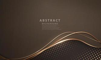 abstrakter Hintergrund Luxus Gold modern vektor