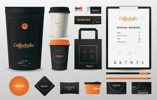 Shop Briefpapier Kit für Werbematerial Vorlage vektor