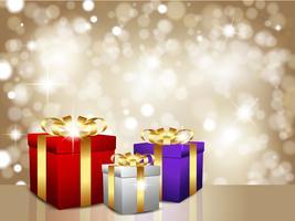 Weihnachtsgeschenk Hintergrund vektor