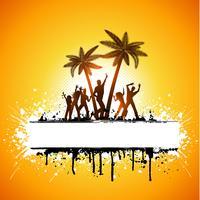 Grunge Sommerfest vektor