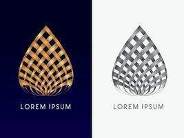 abstrakte Form des goldenen Lotus vektor