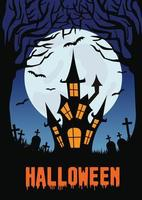 Happy Halloween niedlichen Illustration Flyer vektor