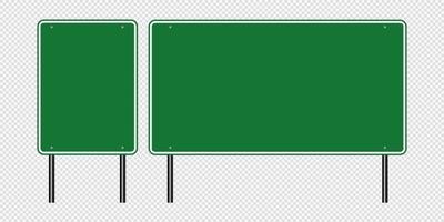 grünes Verkehrszeichen Straßenschild vektor