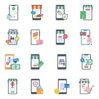 mobile Einkaufselemente vektor