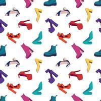 nahtloses Muster für Damenschuhe vektor