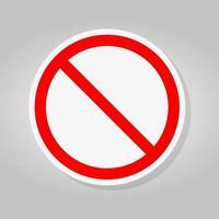 kein Zeichen leer rot durchgestrichener Kreis nicht erlaubt Zeichen vektor